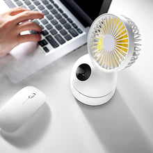 Mini USB Desk Fan Personal Misting Fan Moisturizing Fan with Spray Bottle Handheld Humidifier Fan Rechargeable for Beauty,Home, Office,Travel (White)