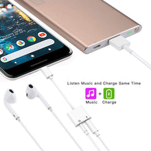 2 in 1 USB C to 3.5mm Adapter, Type C to 3.5mm Headphone Jack and Charging Adapter Compatible with Google Pixel 2/2XL/3/3XL Essential HTC U11 LG G6/V20