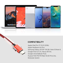Type C Charging Cable with Phone Stand, Lecone 1m/3ft Nylon Braided USB C 2.0 Fast Charging & Data Transfer Cord for Samsung Galaxy Note 9 S10 S10 Plus S10e S9+, Nintendo Switch,USB C Device[2 Pack]