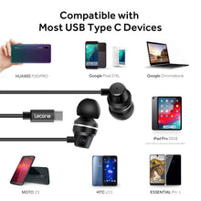 Lecone USB Type C Earbud Headphones Earphone with Mic Remote Control for Google Pixel 3/2/XL, New iPad Pro/MacBook/Pro/Air, Xperia XA2/XZ2, HTC U12/U11, OnePlus 6/6T/5/5T, LG V40/V30, Essential