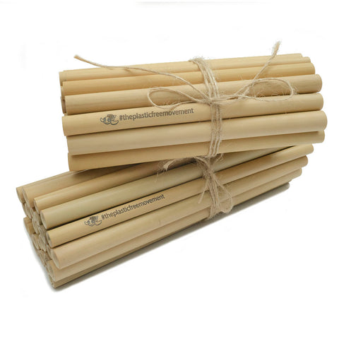 Reusable personalised personalized bamboo straws for events venues bars clubs