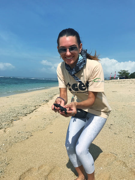 Baby Rescue Sea Turtle Release Bali Indonesia