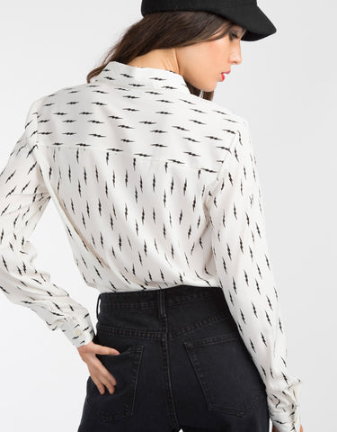 Lightening bolt blouse