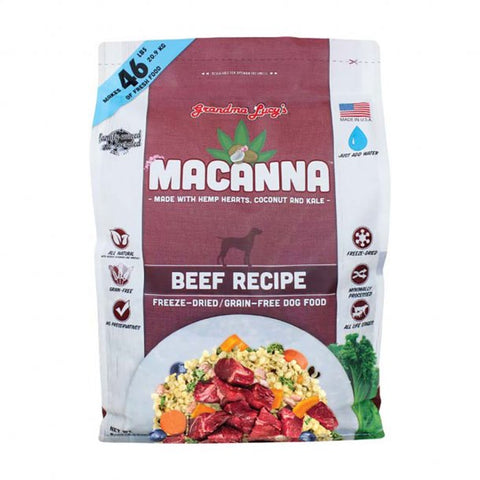 Grandma Lucy's® Macanna™ Freeze Dried Grain Free Beef Recipe Dog Food