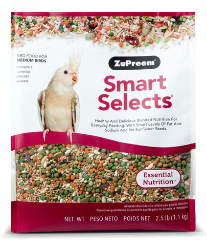 ZuPreem Smart Selects Cockatiels & Lovebirds - Medium Birds