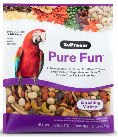 ZuPreem Pure Fun Bird Food for Large Birds