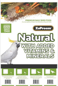 ZuPreem Natural Cockatiels - Medium Birds