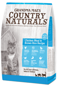 Grandma Mae's Country Naturals Premium All Natural Chicken Meal and Brown Rice Dry Cat / Kitten Food