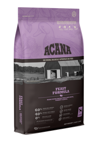 ACANA Feast Formula with Fresh Free-Run Duck, Turkey & Quail Dry Dog Food
