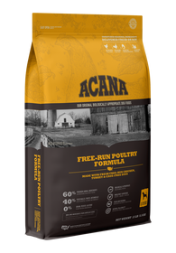 ACANA Free-Run Poultry Formula with Free-Run Chicken & Turkey and Cage-Free Eggs Dry Dog Food