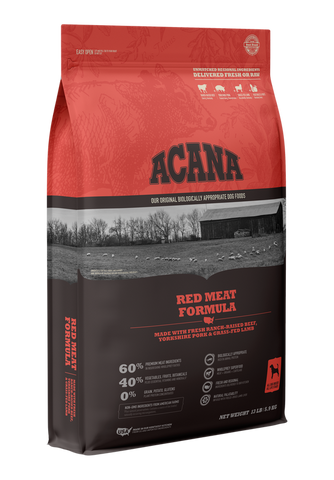 ACANA Red Meat Formula with Ranch-Raised Beef, Yorkshire Pork & Grass-Fed Lamb Dry Dog Food