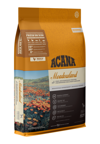 ACANA Regionals Meadowlands with Free-Run Kentucky Poultry, Freshwater Fish, Cage-Free Eggs Dry Dog Food