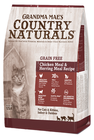 Grandma Mae's Country Naturals Grain Free Chicken Meal and Herring Meal Dry Cat Food