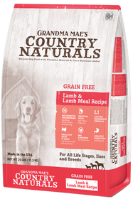 Grandma Mae's Country Naturals Grain Free Lamb & Lamb Meal Recipe Dry Dog Food