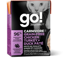 Petcurean GO! CARNIVORE Grain Free Chicken, Turkey + Duck Pâté Wet Dog Food