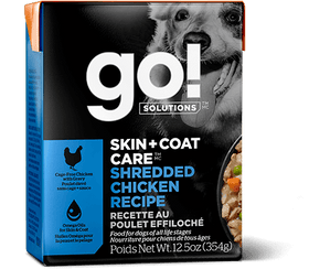 Petcurean GO! SKIN + COAT CARE Shredded Chicken Recipe Wet Dog Food