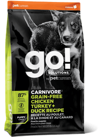 Petcurean GO! CARNIVORE Grain Free Chicken, Turkey + Duck Puppy Dog Food