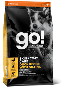 Petcurean Go! SKIN + COAT CARE Duck Recipe With Grains Dry Dog Food