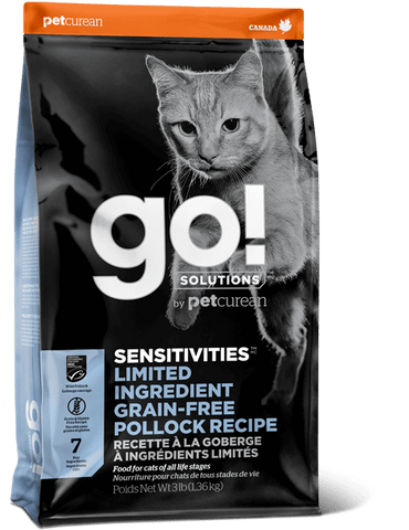 Petcurean GO! SENSITIVITIES Limited Ingredient Grain Free Pollock Cat Food