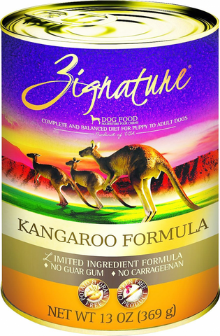 Zignature Limited Ingredient Diet Kangaroo Formula Can Wet Dog Food