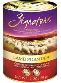 Zignature Limited Ingredient Diet Lamb Formula Canned Dog Food