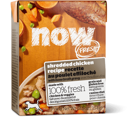 Petcurean NOW FRESH™ Grain Free Shredded Chicken recipe with bone broth gravy Dog Wet Food