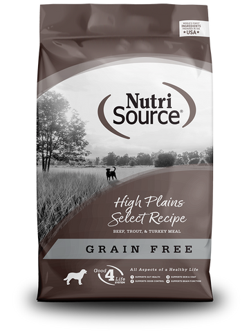 Tuffy's Nutri Source High Plains Select Dog Food, Made with Beef & Trout
