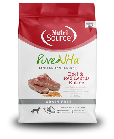 Tuffy's NutriSource Pure Vita Beef & Red Lentils Entrée Dog Food