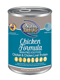 Tuffy's Nutri Source Grain Free Chicken Canned Wet Dog Food