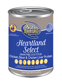 Tuffy's Nutri Source Grain Free Heartland Select Canned Wet Dog Food