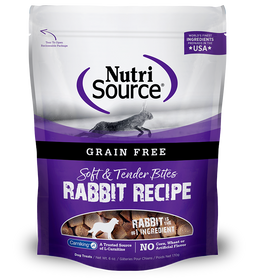Tuffy's Nutri Source Grain Free Rabbit Bites Dog Treats