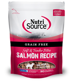 Tuffy's Nutri Source Grain Free Salmon Bites Dog Treats