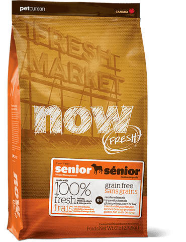 Petcurean NOW Fresh Grain Free Senior Dog Food