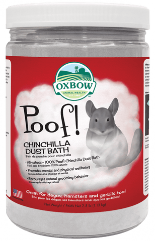 Oxbow Poof! Blue Cloud Chinchilla Dust
