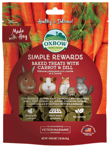 Oxbow Simple Rewards - Baked Treats with Carrot & Dill For Small Animals