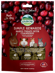 Oxbow Simple Rewards - Baked Treats with Cranberry