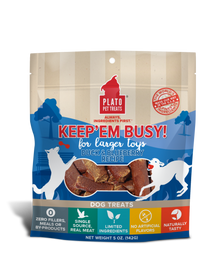 Plato Keep'Em Busy Duck & Blueberry Meat Sticks for Larger Toys