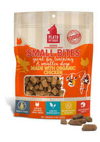 Plato Small Bites Made With Organic Chicken Meaty Morsel Dog Treats