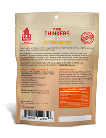 Plato Mini Thinkers Chicken Meat Stick Dog Treats