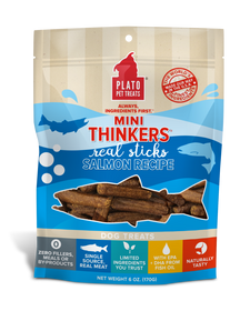 Plato Mini Thinkers Salmon Meat Stick Dog Treats