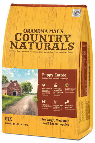 Grandma Mae's Country Naturals Premium All Natural Puppy Dry Dog Food