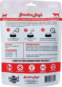 Grandma Lucy's® Simple Replacement Pork, Rice, and Pumpkin Formula Cat and Dog Supplement