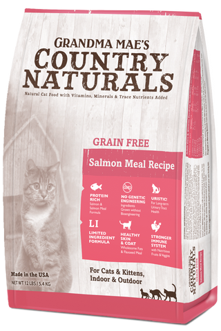 Grandma Mae's Country Naturals Grain Free Salmon & Salmon Meal Dry Cat Food