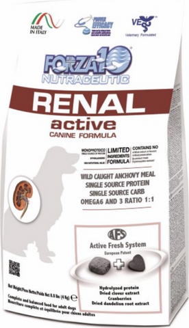 FORZA10 Nutraceutic Active Kidney Renal Support Diet Anchovy Dry Dog Food