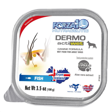 FORZA10 Nutraceutic ActiWet Dermo Icelandic Fish Recipe Wet Dog Food