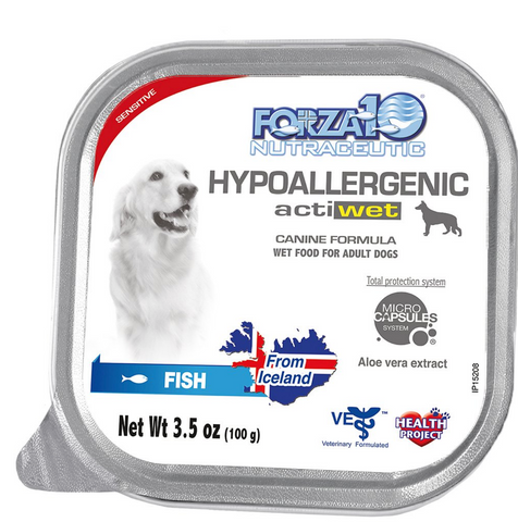 FORZA10 Nutraceutic Actiwet Hypoallergenic Icelandic Fish Recipe Wet Dog Food