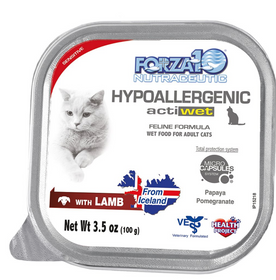 FORZA10 Nutraceutic Actiwet Hypoallergenic Lamb Canned Cat Food