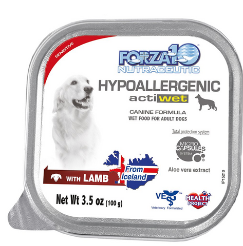 FORZA10 Nutraceutic Actiwet Hypoallergenic Lamb Wet Dog Food