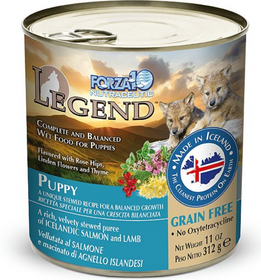FORZA10 Nutraceutic Legend Puppy Icelandic Salmon & Lamb Recipe Grain-Free Canned Dog Food