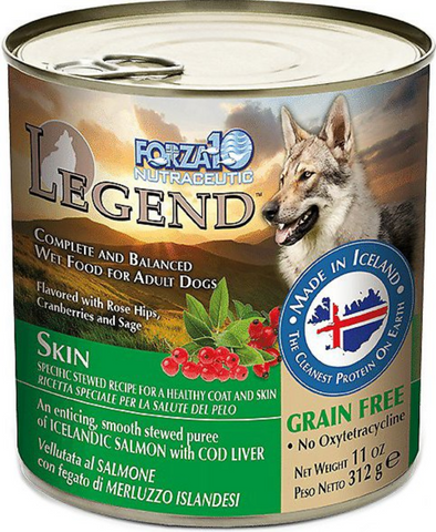 FORZA10 Nutraceutic Legend Skin Icelandic Fish Recipe Grain-Free Canned Wet Dog Food